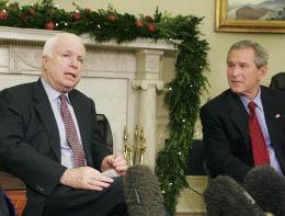 John McCain et George W. Bush